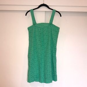 C & C California Green Embroidered Dress